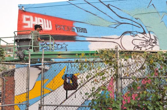 MuralsDC | 2010 | 9th St. Shaw 'Before' Photo