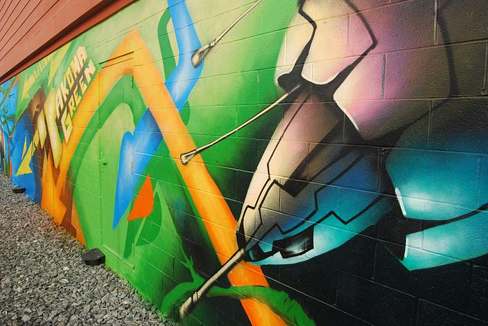 WKN/murals. Takoma Green - 314 Carroll St. NW - Photo by Ann Cameron Siegal