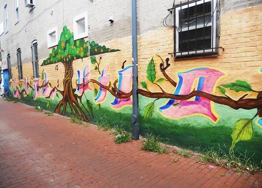 evolution-mural