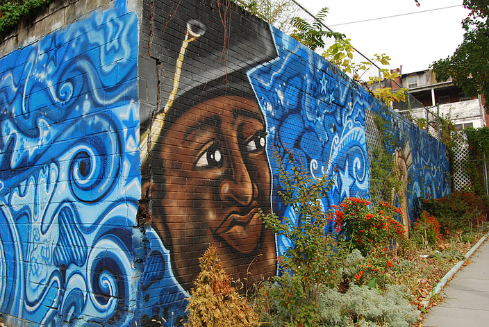 WKN/murals15. Mural near Howard University and Banneker High - (Fairmont St. and Georgia Ave. NW -  artist Andrew Funk - photo by Ann Cameron Siegal